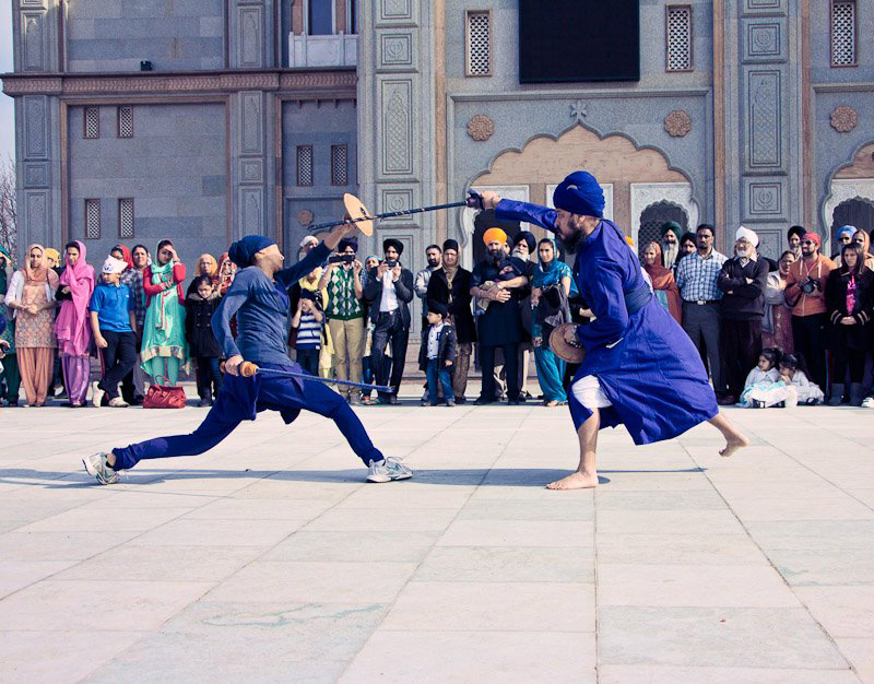 Gatka male & female sword fight