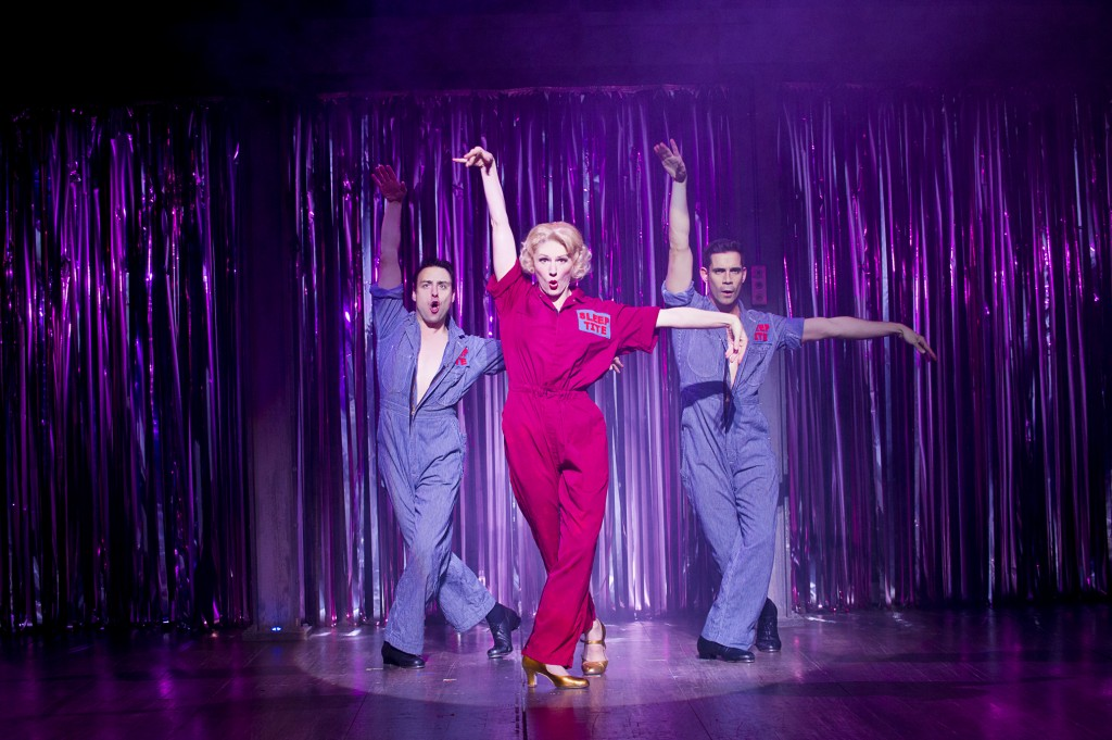 Steaming! Alexis Owen Hobbs in The Pajama Game. Photo by Tristram Kenton.