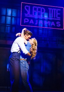 Joanna Riding and Michael Xavier in The Pajama Game-2-05-14-Shaftesbury Theatre-4297_Photo Tristram Kenton