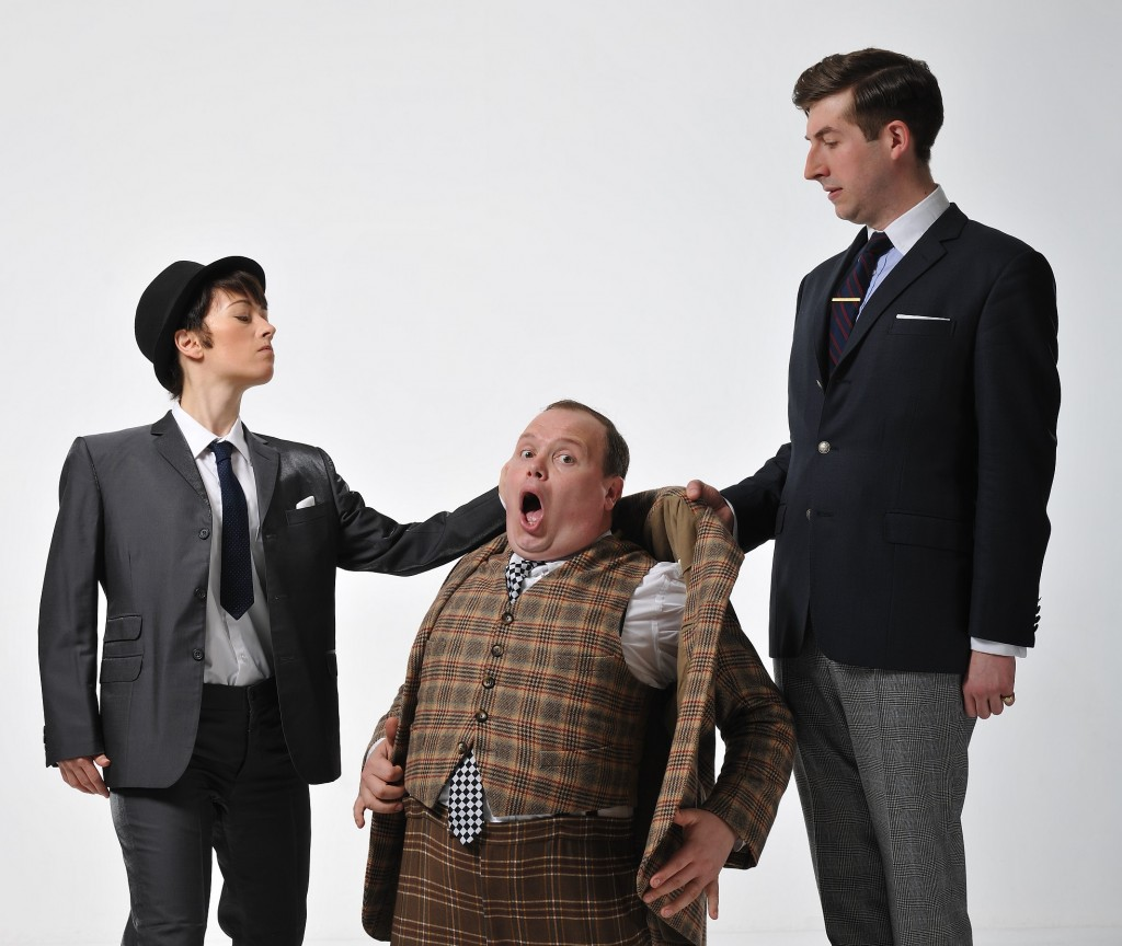 Alicia Davies, Gavin Spokes and Patrick Warner in One Man Two Guvnors