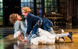 Jessie Buckley and Joshua McGuire in Amadeus. Photo Manuel Harlan.a