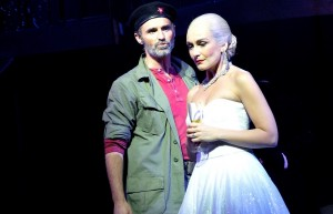 Marti Pellow and Madalena Alberto in Evita.