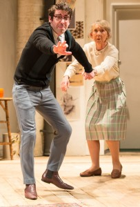 Paul Ready and Marcia Warren  in Black Comedy. Photo Manuel Harlan