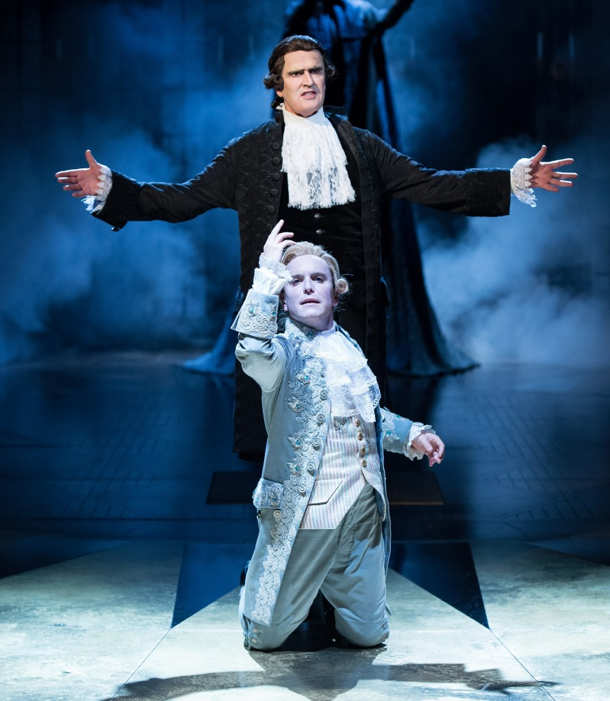 Rupert Everett and Joshua McGuire in Amadeus. Photo Manuel Harlan