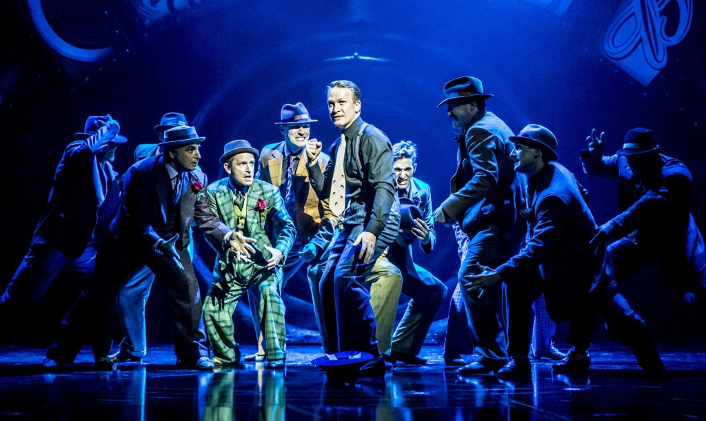 Jamie Parker and Co. in Guys and Dolls. Photos by Johan Persson.
