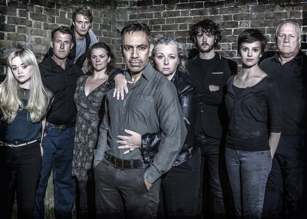 David Bedella and cast of Sweeney Todd. Photo by Darran Bell.