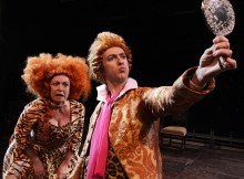 Gilly Tompkins & John Trenchard in She Stoops To Conquer. Photos by Nobby Clark.