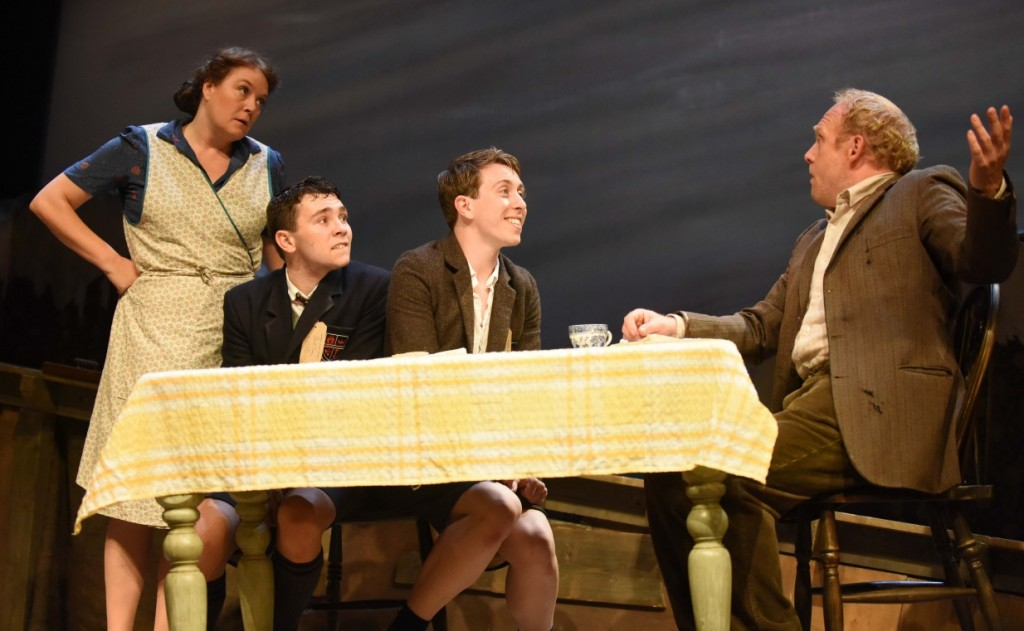 Janet Greaves, Jake Davies, Sean Aydon and Nicholas Tizzard in Friend Or Foe. Photos by Robert Day.