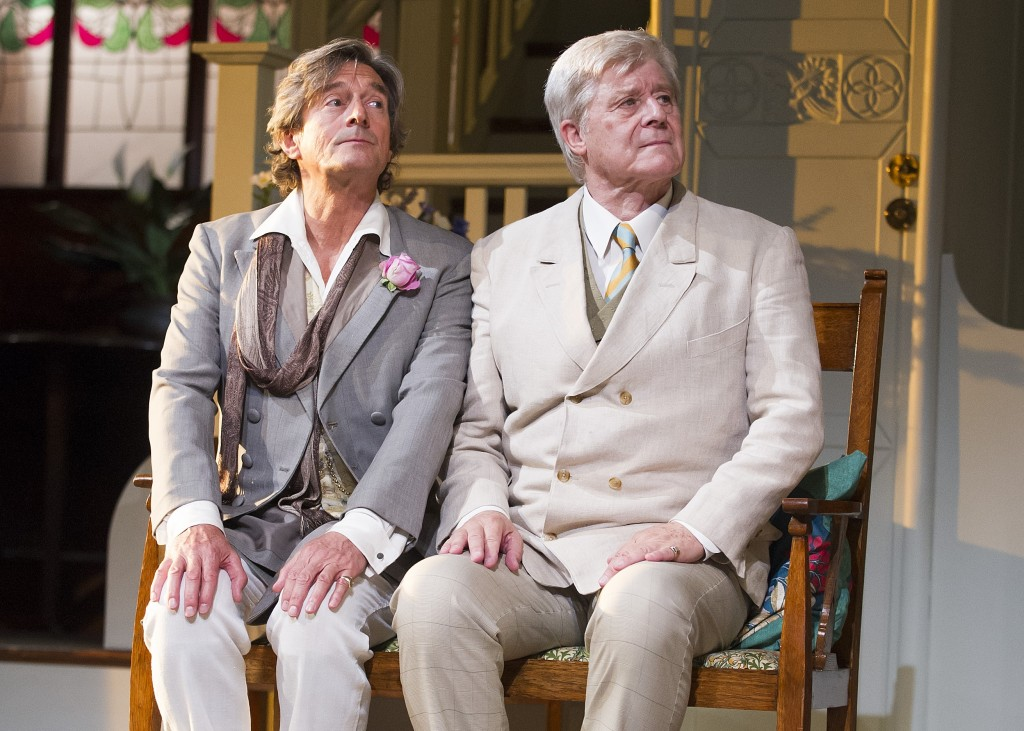 Nigel Havers (Algernon) and Martin Jarvis (Jack) in Importance Of Being Earnest-Photo Tristram Kenton-1637 (1)