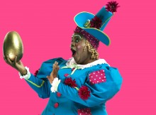 Clive Rowe in Hackney Empire's Mother Goose. Photos by Perou.