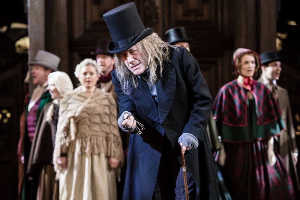 David Burt as Scrooge in A Christmas Carol. Photos by Scott Rylander