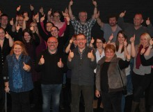 Colchester Theatre staff celebrate