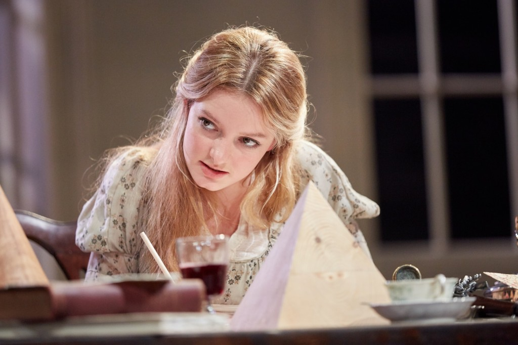 Dakota Blue Richards in English Touring Theatre's Arcadia. Photo Mark Douet .