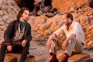 Tim McMullan and Ralph Fiennes in Man & Superman