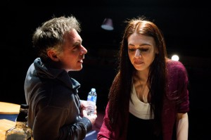 Kill Me Now at Park Theatre. Greg Wise (Jake) and Charlotte Harwood (Twyla). Photo credit - Alex Brenner.  (1)