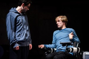 Kill Me Now at Park Theatre. Jack McMullen (Rowdy) and Oliver Gomm (Joey). Photo credit - Alex Brenner.  (1)
