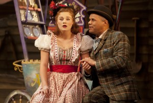 Lucy May Barker as Ado Annie and Gary Wilmot as Ali Hakim in the National tour of OKLAHOMA! credit Pamela Raith