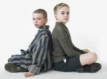 Colby Mulgrew and Finlay Wright-Stephens in The Boy In The Striped Pyjamas. Photo Shaun Webb.