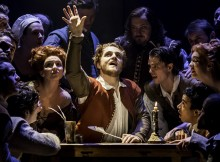 Orlando James in Shakespeare In Love. Photos Johan Persson.