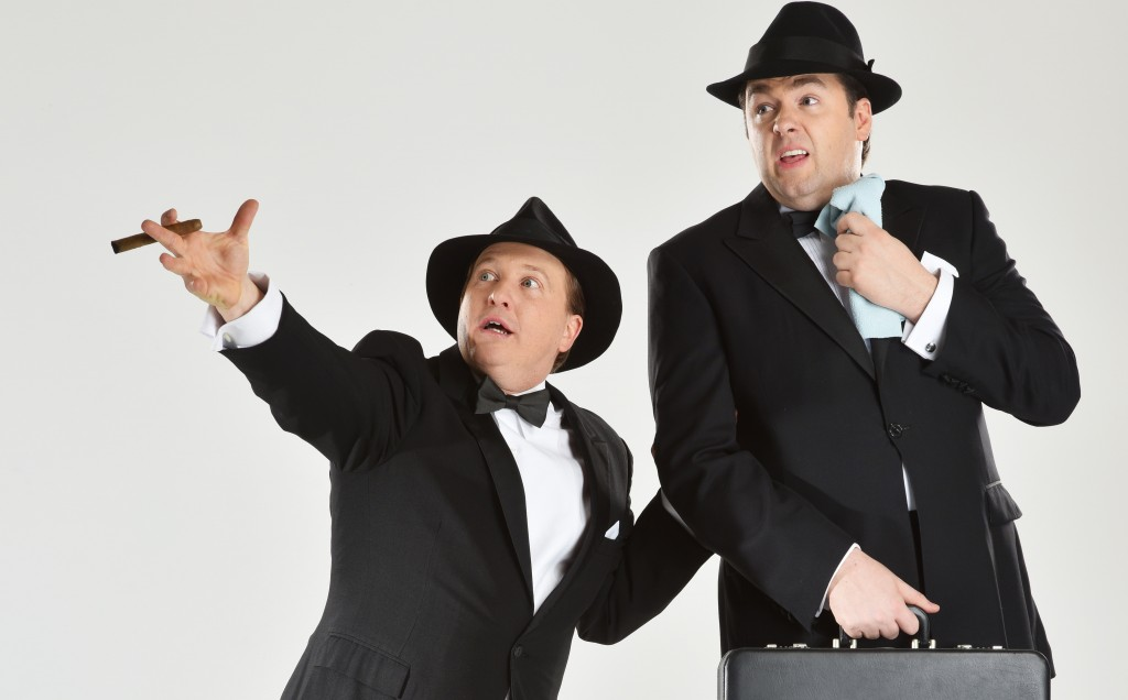 Cory English and Jason Manford  in The Producers. Image Hugo Glendinning.