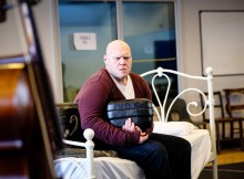 Andy Gillies in rehearsal for The Ladykillers. Image Andrew Billington