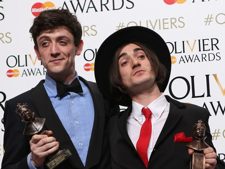 Best Actor in a Musical Award winner John Dagleish and Best Actor in a Supporting Role in a Musical Award winner George Maguire