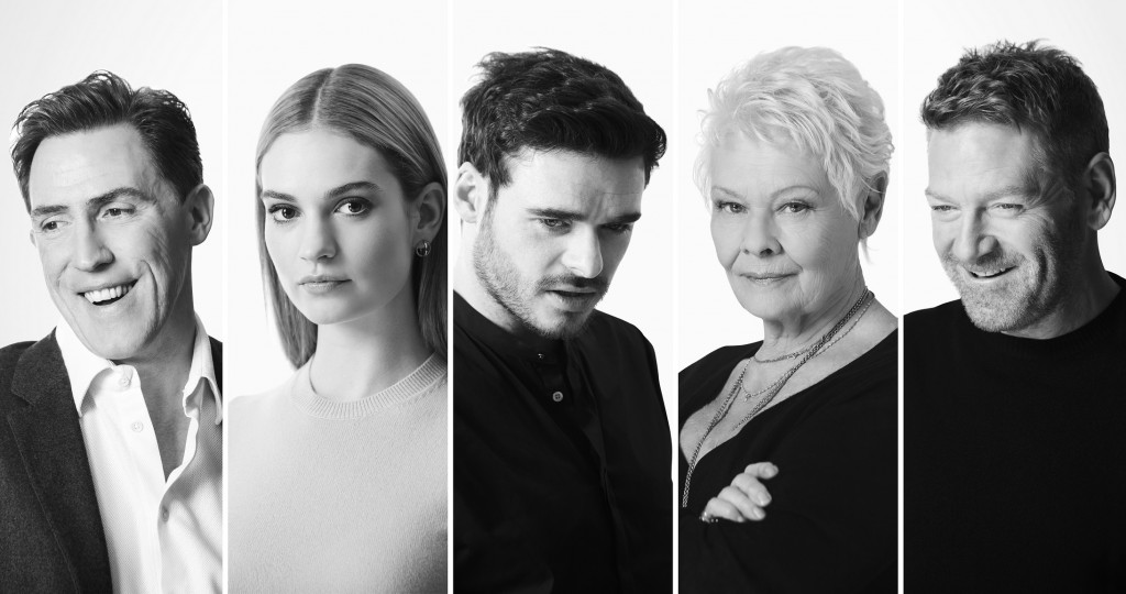 Rob Brydon, Lily James, Richard Madden, Judi Dench and Kenneth Branagh. Kenneth Branagh Theatre Company. Credit Johan Persson