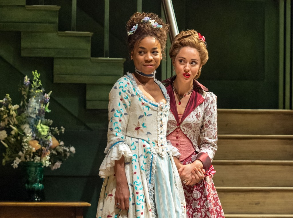Pippa Bennett-Warner and Susannah Fielding in The Beaux' Stratagem. Images Manuel Harlan.