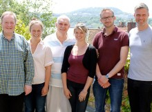 Confusions cast with Alan Ayckbourn. Photo Jordan Lonsdale