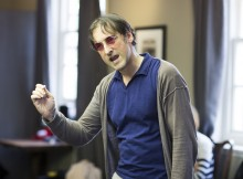 In rehearsal. An Audience With Jimmy Savile. Images by Helen Maybanks