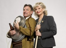 Brian Capron and Liza Goddard in The Smallest Show on Earth. Image Colin Bell.