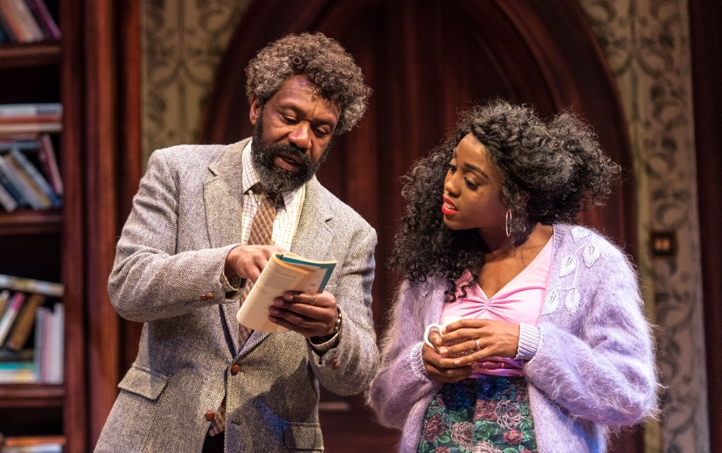 Lenny Henry & Lashana Lynch in Educating Rita. Images Manuel Harlan