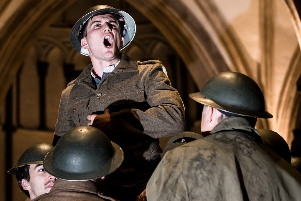 A battle cry from Freddie Stewart's Henry V. Images Scott Rylander.