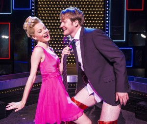 Amy Lennox (Lauren) and Killian Donnelly (Charlie) in Kinky Boots - photo Matt Crocket