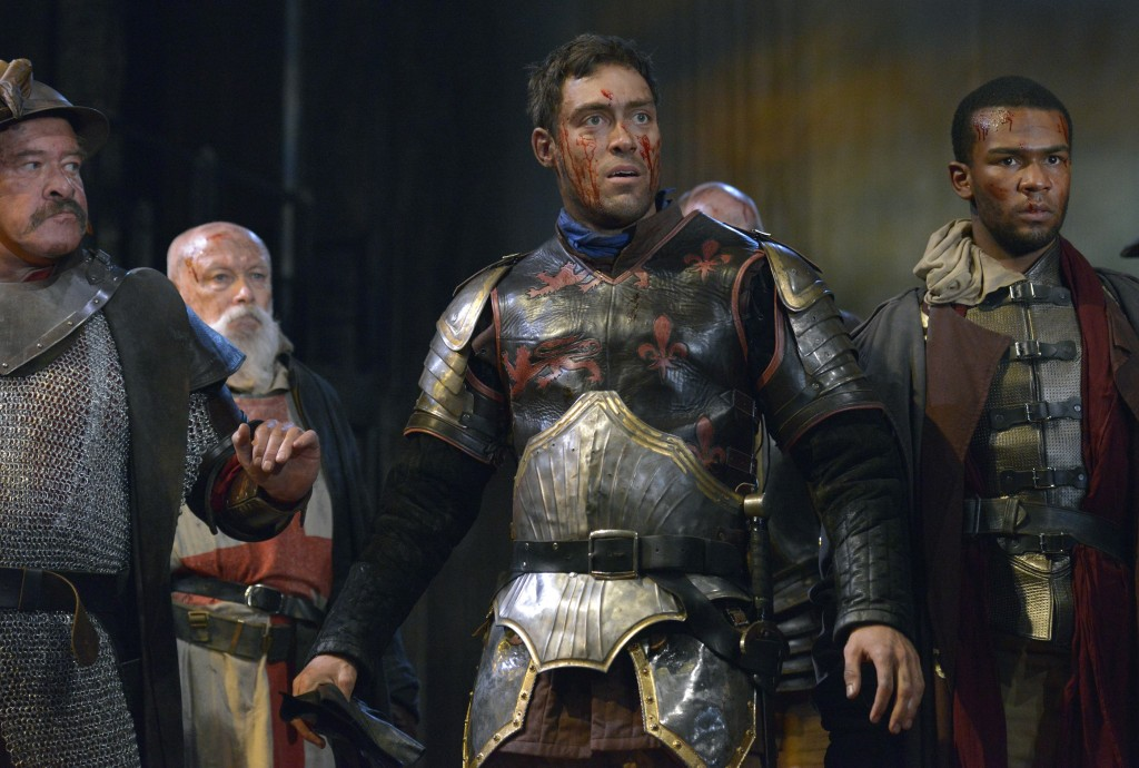 Alex Hassell in the Royal Shakespeare Company's Henry V.