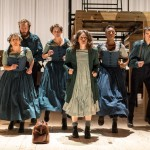 Jane Eyre. Jpeg 3. (from l to r) Maggie Tagney, Felix Hayes, Laura Elphinstone, Madeleine Worrall, Simone Saunders and Craig Edwards_Jane Eyre_credit Manuel Harlan