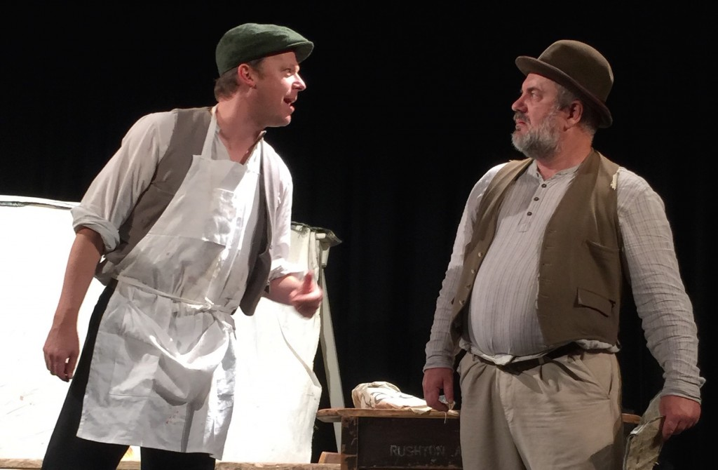 Jonathan Markwood as Owen and Neil Gore as Crass - Ragged Trousered 2015-09-24 15.07.22