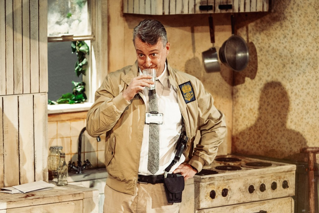 Stephen Tompkinson in Pig Farm. Images Specular