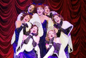 Sophie Thompson (Miss Adelaide) and the cast of Guys and Dolls - photo by Paul Coltas