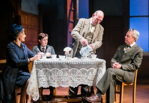 Amanda Ryan, Shannon Rewcroft, Denis Lill and Stephen Boxer in Shadowlands. Credit Jack Ladenburg
