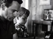 Jack Lemmon with his son Chris.