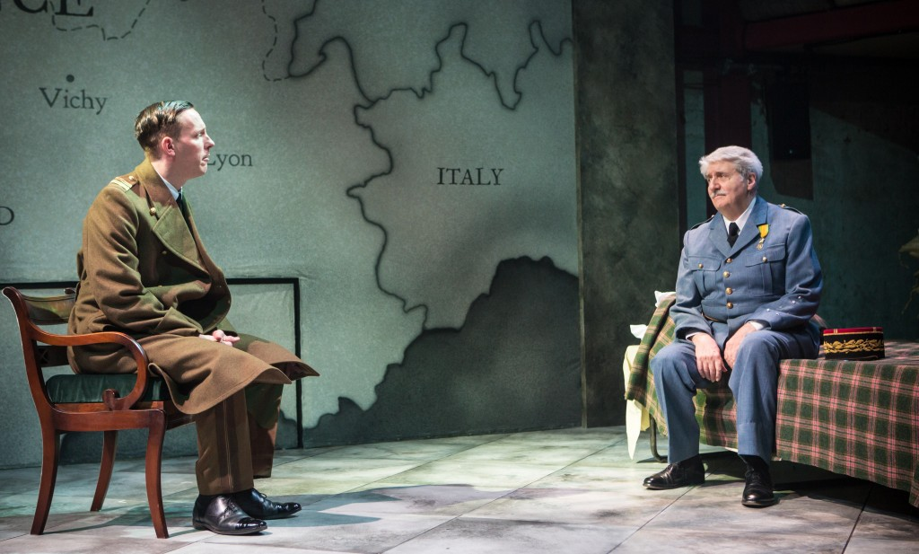 Laurence Fox & Tom Conti in The Patriotic Traitor. Images Helen Murray