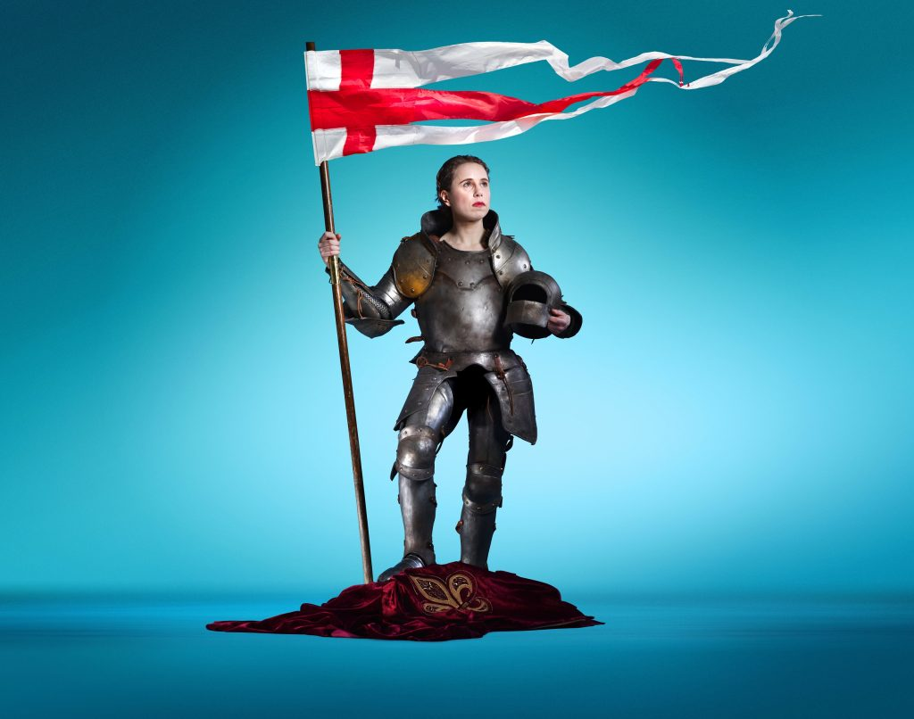 Michelle Terry in Henry V at Regent's Park Open Air Theatre.