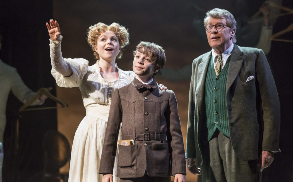 Gemma Sutton, William Thompson, Michael Crawford in The Go Between. Images Johan Persson