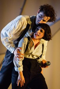 Kneehigh The Flying Lovers of Vitebsk P 9 c Steve Tanner Marc Antolin as Marc Chagall Audrey Brisson as Bella Chagall
