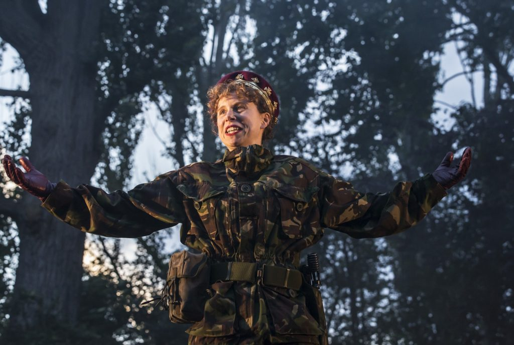 Michelle Terry in Open Air Theatre's Henry V. All images Johan Persson.
