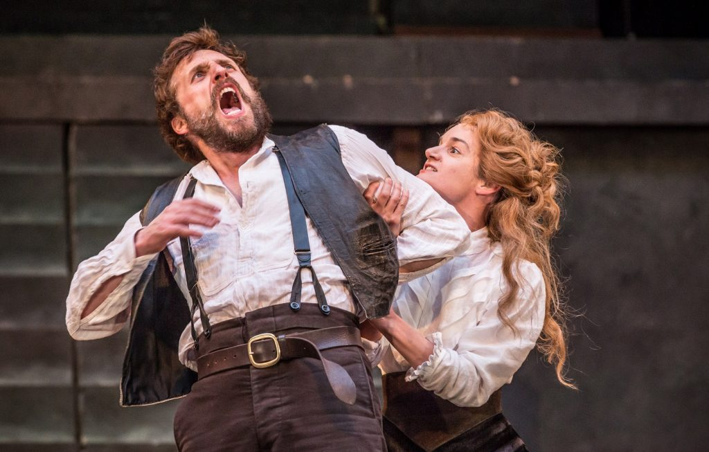 Edward MacLiam & Aoife Duffin in The Taming of the Shrew. Images Mark Brenner