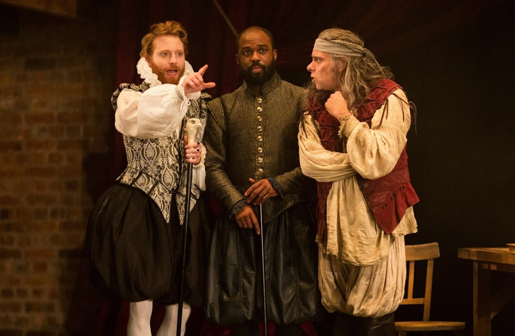 Tom McCall, Ken Nwosu, Mark Lockyer in The Alchemist. Images Helen Maybanks