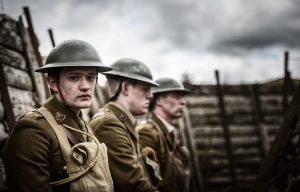 1 - Rory Fairbairn as Raleigh and company in Immersion Theatre's Journey's End