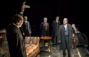 4. A scene from Chichester Festival Theatre's STRIFE (IAN HUGHES, centre, as David Roberts) Photo Johan Persson_02531
